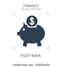 piggy bank icon. high quality filled piggy bank icon on white background. from finance collection flat trendy vector piggy bank symbol. use for web and mobile