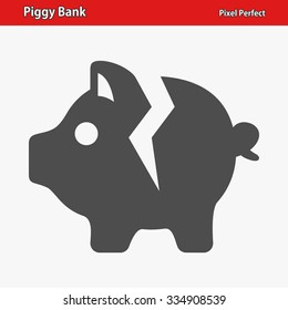 Piggy Bank Icon. Professional, pixel perfect icon optimized for both large and small resolutions. EPS 8 format.