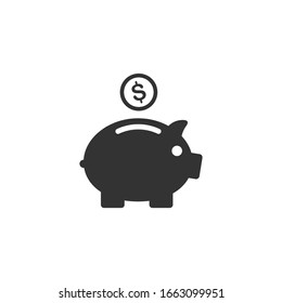 Piggy bank icon template color editable. Piggy bank symbol vector sign isolated on white background.