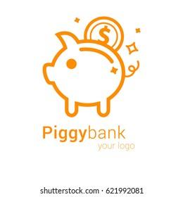Piggy bank. Logo.