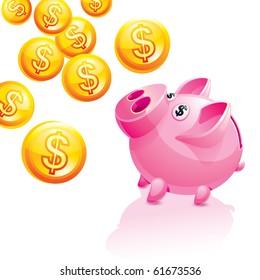 Piggy Bank for Money rain