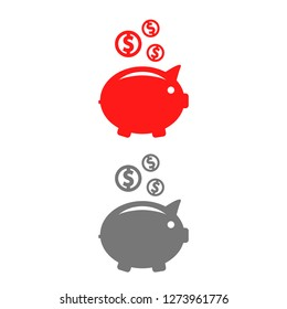 piggy bank vector icon