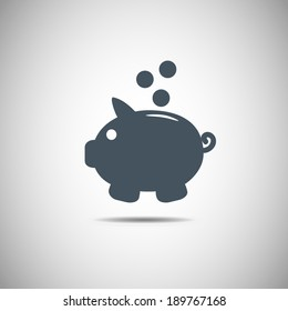 Piggy bank vector icon Piggy bank vector icon