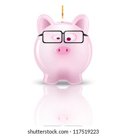Piggy bank. Vector illustration design.