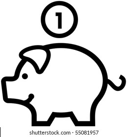 piggy bank clip art images stock photos vectors shutterstock rh shutterstock com pig clip art cartoon pig clipart black and white