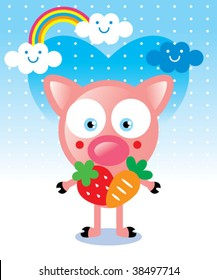 piggy harvest card