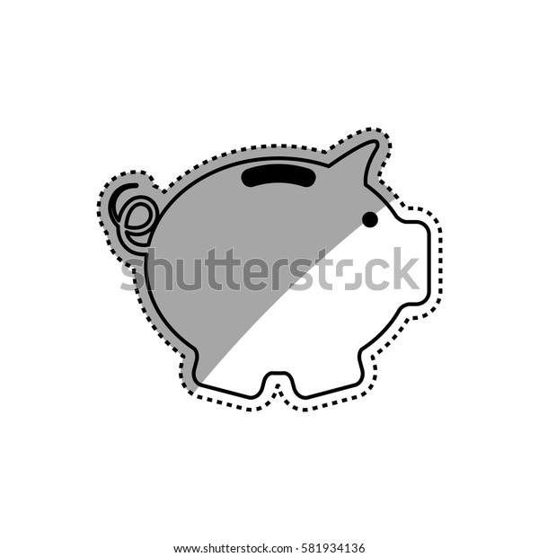 Piggy saving money icon vector illustration graphic design