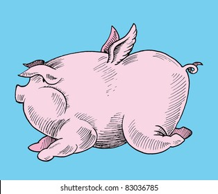 Pig with Wings Images, Stock Photos & Vectors | Shutterstock