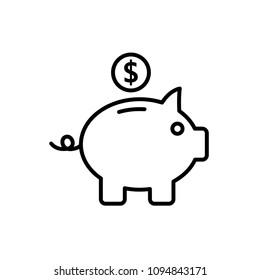 pigy bank - finance icon vector