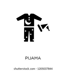 Pijama icon. Pijama symbol design from Clothes collection. Simple element vector illustration on white background.