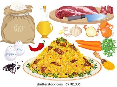 Pilaf ingredients