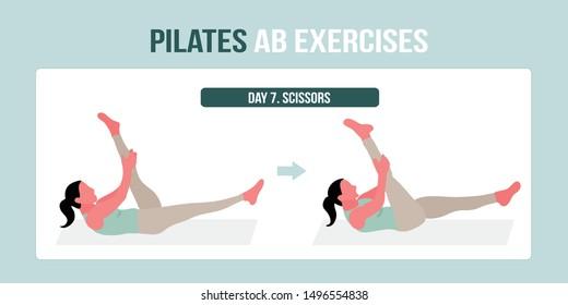 Pilates AB exercise scissors - a concept illustraion of pilates