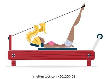 Pilates Girl - Illustration