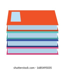 pile of books literature knowledge home education vector illustration flat style icon
