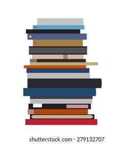 Pile of books vector isolated. Stack of books. Book spine. Literature