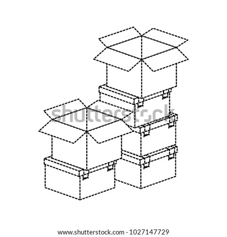 Pile Boxes Delivery Service Stock Vector Royalty Free 1027147729