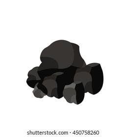 Pile of charcoal,Coal