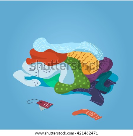 Pile Clothes On Floor Stock Vector (Royalty Free ...