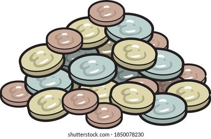 pile de pièces de monnaie illustration vectorielle
