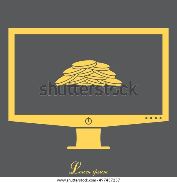 Pile of coins.Vector illustration of financial success