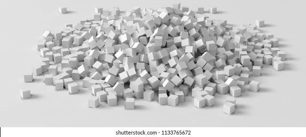 pile of cubes, 3d style vector illustration. suitable for any banner, ad, technology and abstract themes.