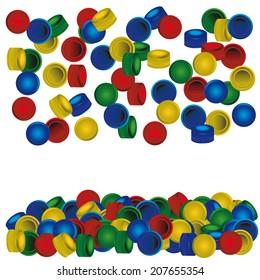 Bottle Caps Plastic Images, Stock Photos & Vectors