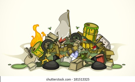 Pile of various garbage
