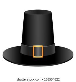 pilgrim hat images stock photos vectors shutterstock rh shutterstock com Thanksgiving Pilgrim Clip Art pilgrim hat clipart black and white