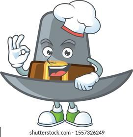 Pilgrim hat in the cartoon character chef