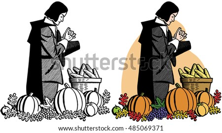 https://image.shutterstock.com/image-vector/pilgrim-praying-over-thanksgiving-feast-450w-485069371.jpg
