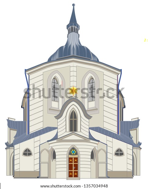 The Pilgrimage Church at Zelená Hora according to an important architect in the Czech Republic is included in the UNESCO World Cultural Heritage. It is made in Baroque style with Gothic elements.