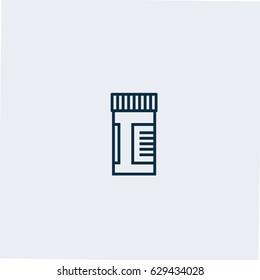 Pill bottle icon.