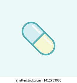 Pill icon, new trendy line art pill icon for your website, logo, app, UI. Pill icon vector illustration.