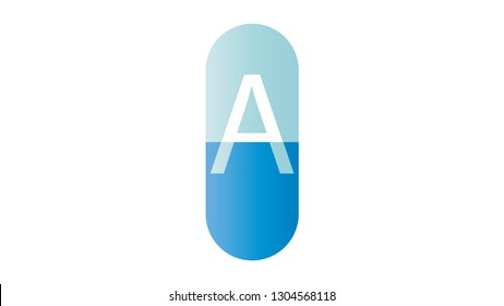 Pill logo vector design. Pharmacy logo
