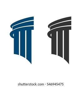 Pillar Building Law Office Logo Template Illustration Design. Vector EPS 10.