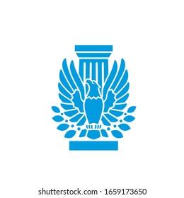 pillar eagle logo vector modern template