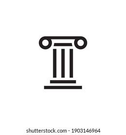 pillar icon symbol sign vector