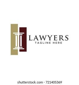 pillar law design logo template