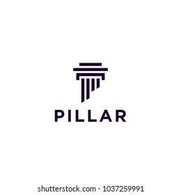 pillar law firm logo design vector