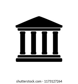 pillar law icon vector template
