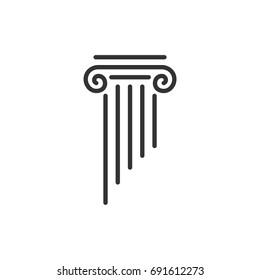 Pillar Law Office Logo Template Illustration Design. Vector EPS 10.