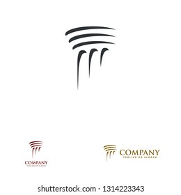 Pillar Logo Design for law firm, attorney or architecture. Vector eps 10