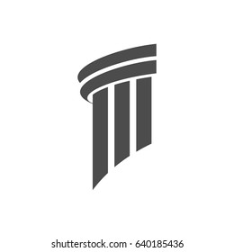Pillar Logo Design for law firm, attorney or university