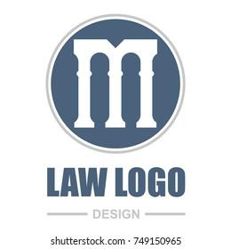 Pillar Logo Design. Letter M.