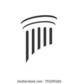 Pillar Logo Element for attorney or lawyer company