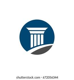 Pillar Logo for Lawyer Firm Illustration Design. Vector EPS 10.