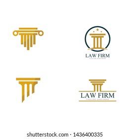 Pillar Logo Template. Column Vector illustration Design