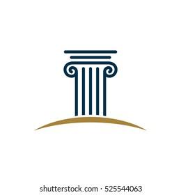 Pillar Logo Template for Law Office