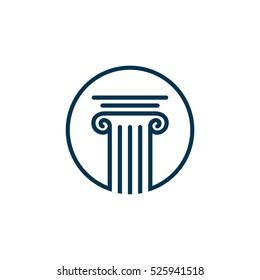 Pillar Logo Template for Lawyer Firm Illustration Design. Vector EPS 10.
