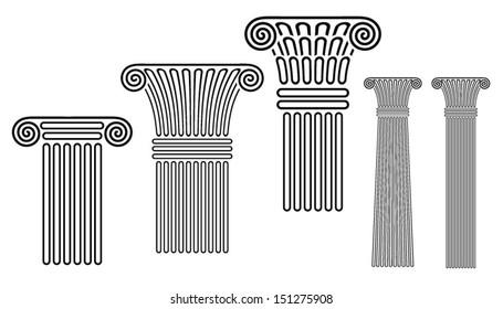 Pillars Vector